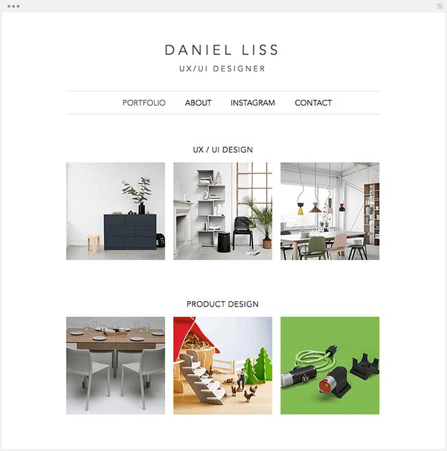 DANIEL LISSのWixサイト