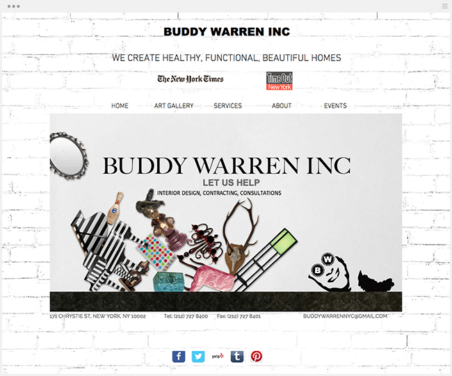 BUDDY WARREN INCのWixサイト