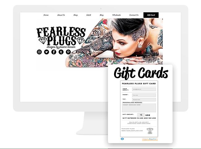 fearlessplugs, ギフトカード