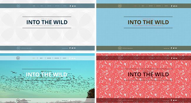 Wixのホームページテンプレートのカラーパレットを変えるだけでサイトの雰囲気が変わる例