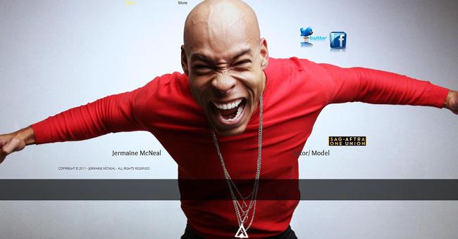 印象的な顔写真を使ったWixホームページビルダーで作成されたサイト例
