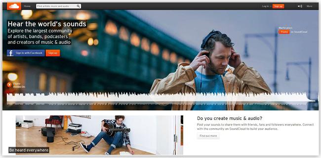 曲をオンラインでシェアできるSoundCloudアプリをサイトに追加しよう