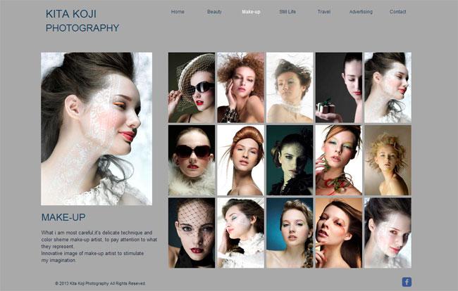 Wixホームページビルダーで作成された写真家のオンラインポートフォリオサイト