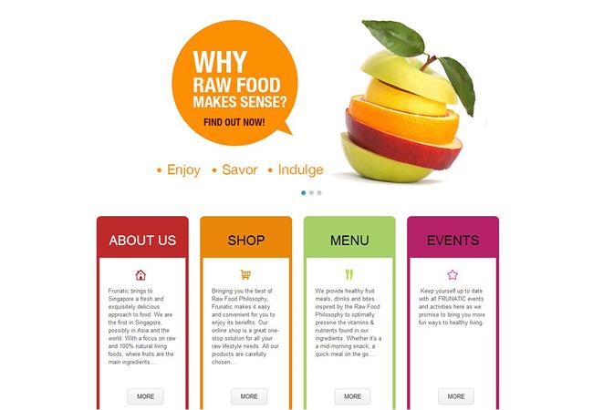 Wixユーザーが作成したフラットデザインのホームページ作成例 3