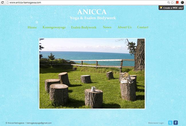 ANICCAのWixサイト