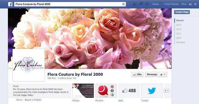 Flora Couture Facebook ページ