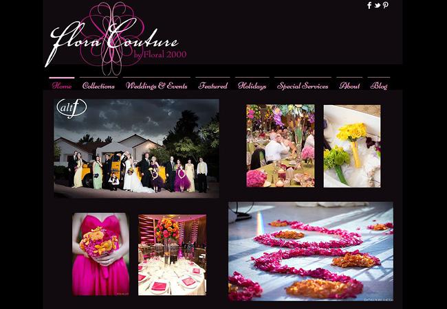 Flora CoutureのWixサイト