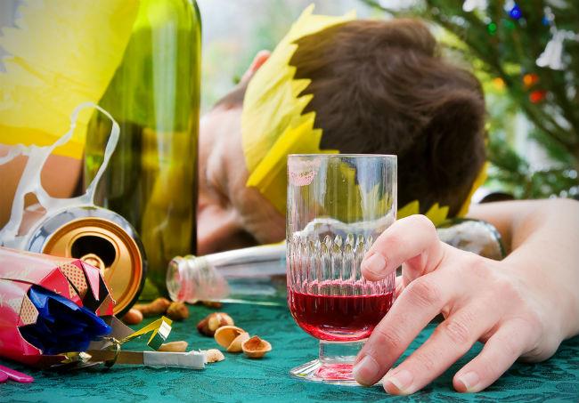 飲みすぎたところを写した写真