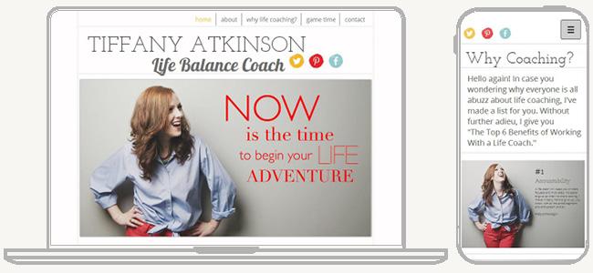 Tiffany Atkinson のWixサイト