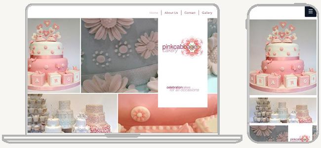 PC版とスマホ版のホームページ例