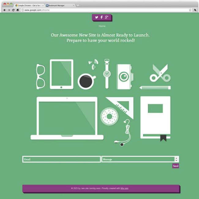 フラットデザインのWixホームページテンプレート