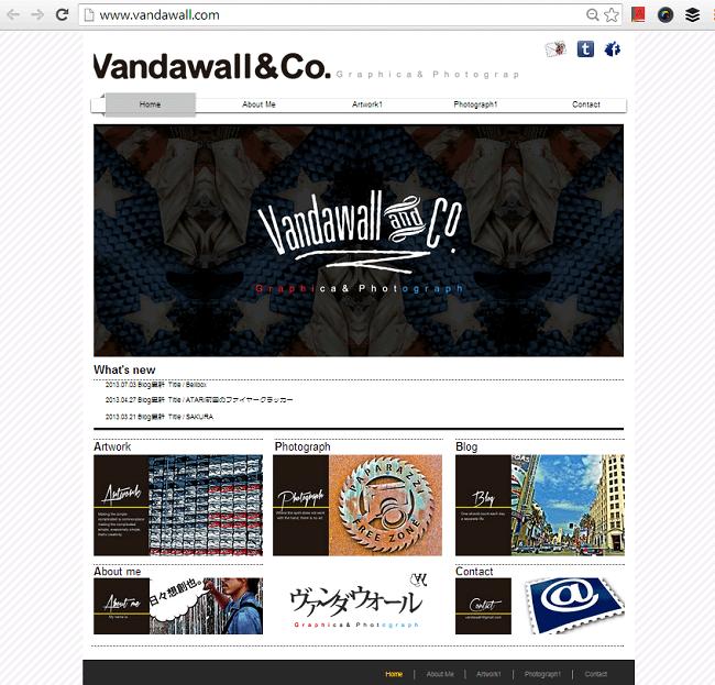 グラフィックデザインのWixホームページ