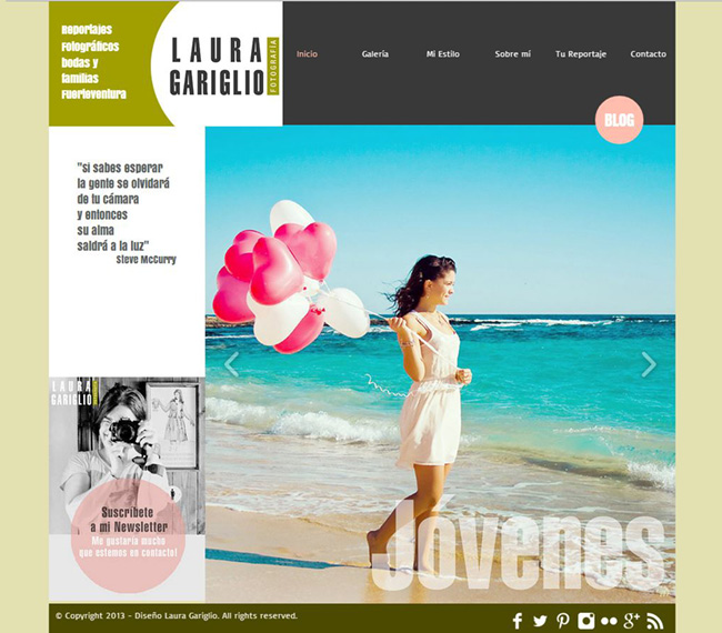Laura Gariglioのポートフォリオサイト