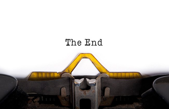the end タイプライター