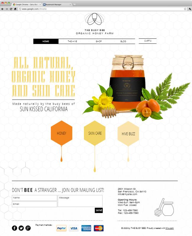 蜂蜜農園のホームページテンプレート