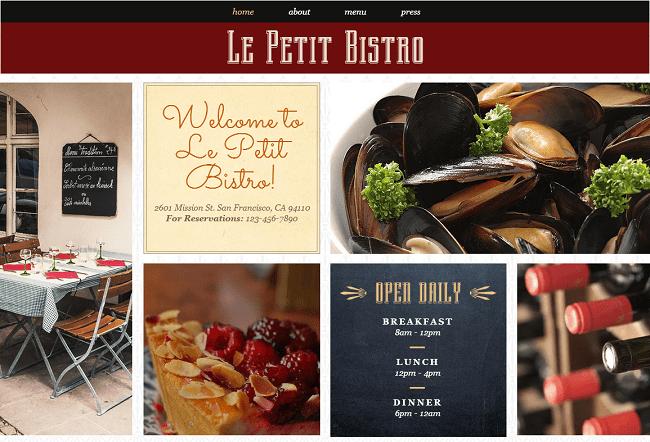 レストラン向けホームページテンプレートを一挙公開