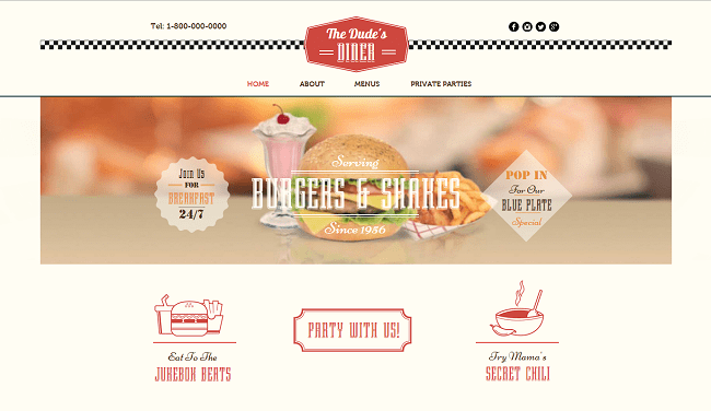 飲食店向け新着ホームページテンプレート
