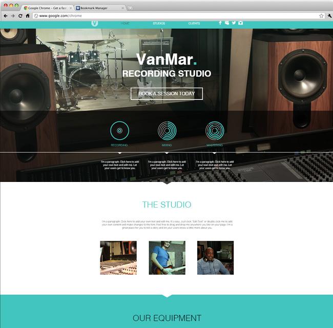 レコーディングスタジオ向けホームページテンプレート
