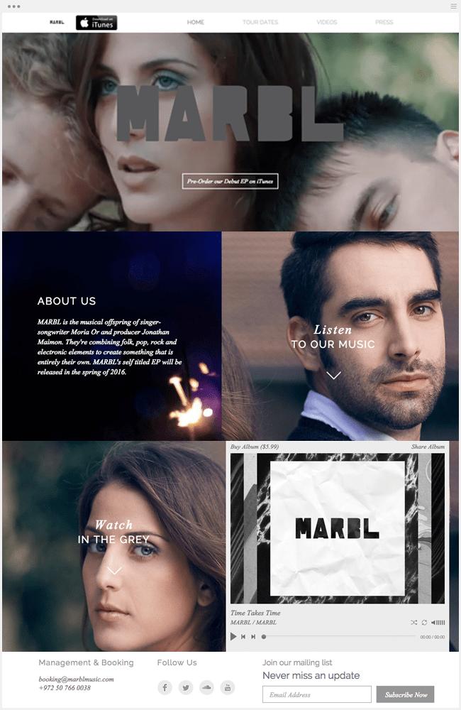 Marbl Musicのサイト