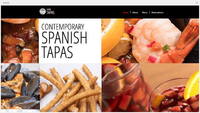スペイン料理レストランホームページ
